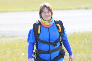 Carol after her skydive